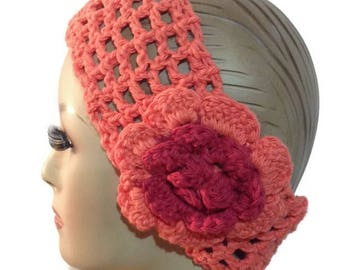 Crochet headband, women headband, orange headband, hair accessory, THE ORANGE