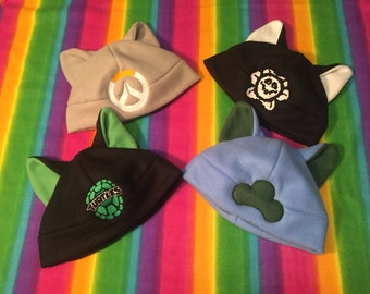 CUSTOM Super-Customized Cat Ear Cosplay Flat-band Hat Beanie