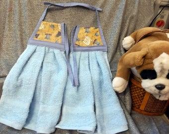 Hanging Kitchen Terry Tie Towels, Liberty Bells Print Top