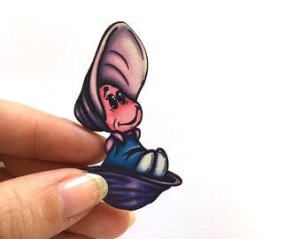 Little Oysters - Alice in Wonderland - Laser Cut Wood Brooch