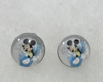 New Disney Mickey Mouse Surfing Pierced Earrings
