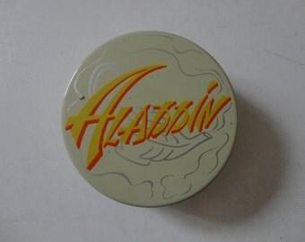 VINTAGE collectible TYPEWRITER ribbon TIN - aladdin - des moines iowa