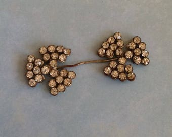Victorian Rhinestone Cluster Stickpin Brooch Hatpin with screw mechanism