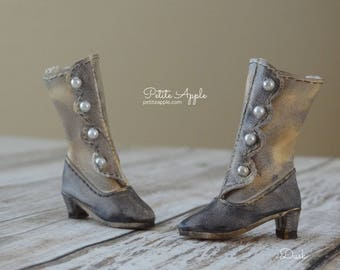 Victorian Boots OOAK for Blythe dolls (all bodies) and others with up to 3cm feet - Dusk