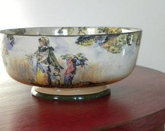 Royal Doulton Vintage Bowl Figural Bowl The Cleaners Old English Scene