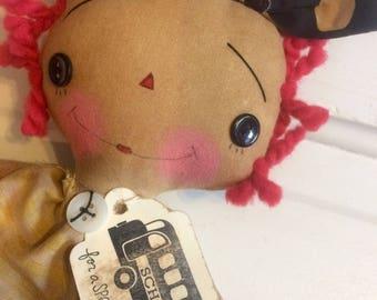 Teacher raggedy Annie - Raggedy Ann doll - teacher gifts - ragdoll - teacher doll - School bus - Raggedy Annie -