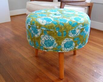Ottoman/Footstool Mid Century Modern Inspired