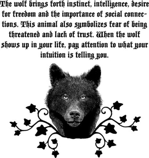 wolf Spirit animal totem printable art black and white clipart png jpg Digital Image Download graphics bedroom living room wildlife artwork