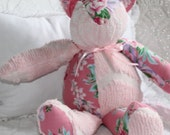 Custom order up to Chenille kitty cats in pinks