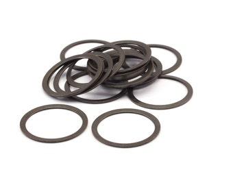 Bohemian Brass Pendant, 20 Antique brass connector rings  (19mm) pen 448 K206