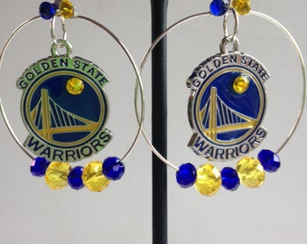 Warriors Hoop Earrings