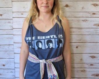 The Beatles Layering T-shirt Tank Top Festival Boho Classic Rock Band Hippie Shirt Tank One Size