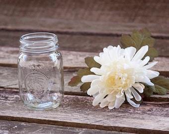 Vintage Anchor Hocking Clear Glass Golden Harvest Mason Jar Rustic Wedding Decor Kitchen Table Centerpiece