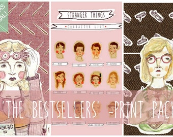 BESTSELLERS PRINT PACK - save ten dollars on 3 A4 sized prints