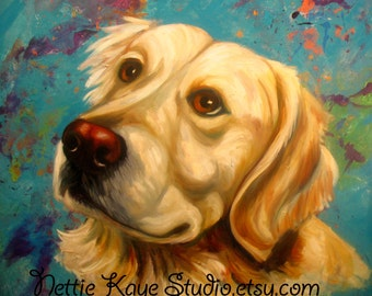 PET PORTRAITS/ HUGE Custom Paintings  on stretched canvas