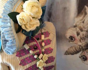 SALE Festival boho bohemian romantic coachella marching band swallow pastel goth pink ribbon jacket size 36 chest coupon code RGCSALE