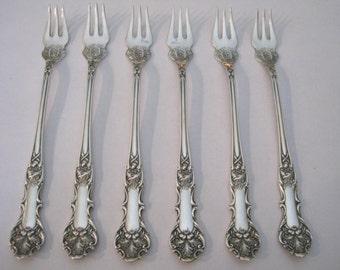 Vintage Silver Oak Leaf Seafood Forks