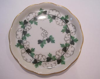 Vintage Herend Shamrock Pin Dish