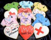 Reserved fr Melanie-----Doctor and Nurse Cookies - 12 Cookies