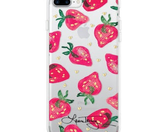 Laura Trevey iPhone7Plus Case  - Strawberries