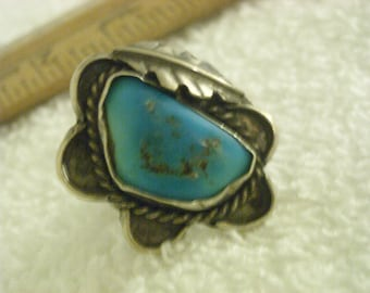 sterling silver turquoise ring  ( F 15 )