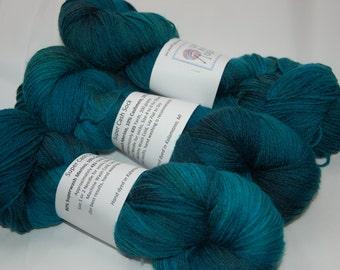 Studio June Yarn Super Cash Sock - Cashmere, Superwash Merino, Nylon Color: Vivid Lagoon