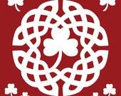 RESERVED CUSTOM for malnjon69 Vinyl Round Celtic Knot Decal 10