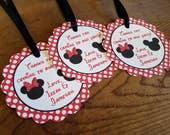 Mickey and Minnie Party - Set of 12 Personalized Favor Tags by The Birthday House