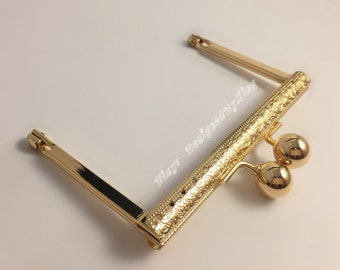 "4"" x 2 1/2"" Purse Frame ,Light Gold, PF005"