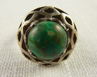 Vintage Sterling Eilat Stone Ring Size 6
