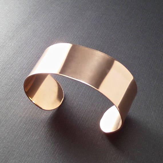 "4 Cuffs 1 x 6"" RAW COPPER or Jeweler's BRASS 18 Gauge  Raw Unfinished Metal Bracelet Cuffs Metal Stamping Blank - 4 Cuffs - Flat"