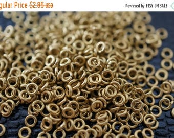 MAY SALE Tiny Raw Brass Round Jump Rings - 2.5mm x0.6mm  -100 pcs
