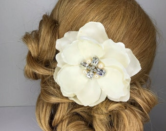 Bridal Flower Comb with Vintage Accent piece.