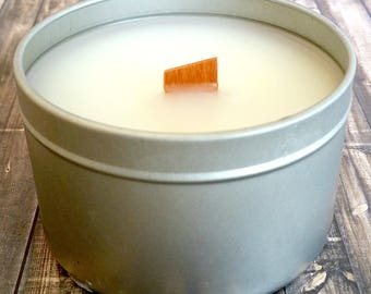 BLACKBERRY PIE Handmade Scented Soy Candle 5.5 oz Free Shipping Wood Wick, Wooden Wick, Crackling Wick, Tin, Container Candle, Food Scented