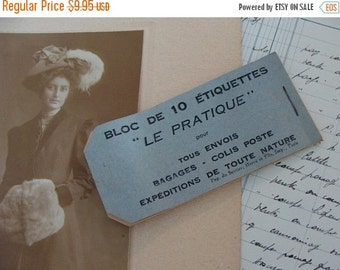ON SALE Antique French Luggage Tags Booklet