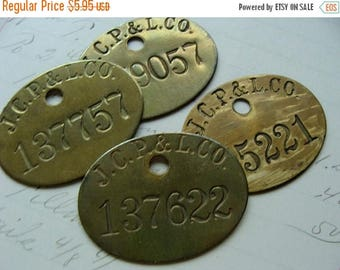 ONSALE One Awesome Antique Salvaged Numbered Metal Tag