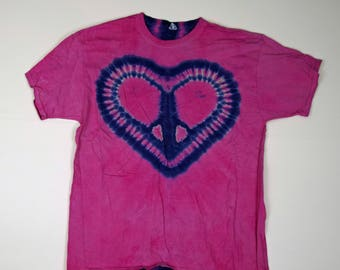 Heartlines Tie Dye T-Shirt (Fruit of the Loom Heavy HD Size XL) (One of a Kind)
