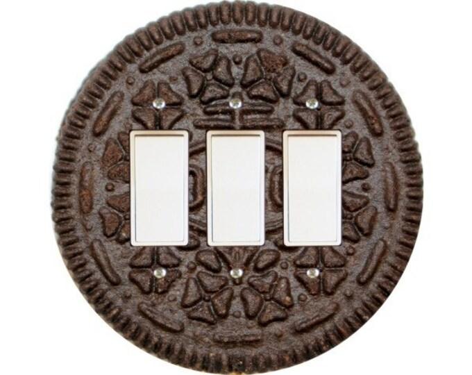 Chocolate Sandwich Cookie Triple Decora Rocker Switch Plate Cover