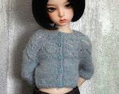 mini BJD cardigan sweater Blue Heaven