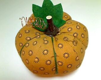 Size 4 |Caramel Dot Fabric Pumpkin | Holidays | Halloween Decor | Fall Decor | Thanksgiving Decor | Table Decoration | Handmade Gift | #14