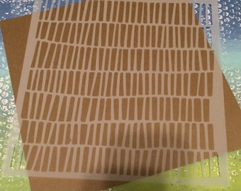 Square 8.5 inch stencil - random line marks