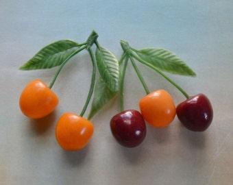 Vintage Retro Cherries Fruit Kitchen Decor
