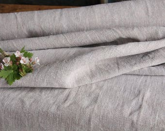R 232 : antique handloomed 5.13 yards french 리넨  upholstering curtain projects, upholstery project, decoration, GREYISH, 27.56 wide