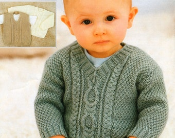 4 Ply Knitting Patterns Free Download : Baby sweater pattern Etsy