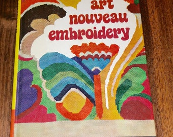 Art Nouveau Embroidery Vintage Hardcover Book