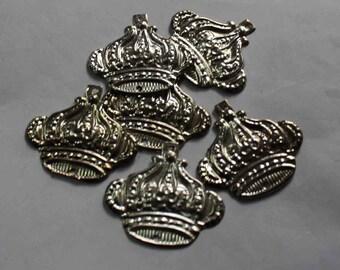 10 silver crown shape  Sequins/100% Metal base/KBMS683