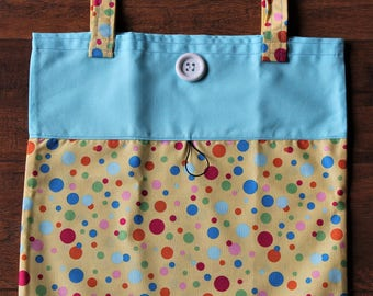 Tote Bag Fold Up Take Along Tote Bag Light Weight Roll Up Bagette
