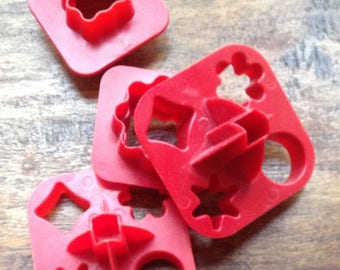 Vintage Tupperware Pieces, Radish Roses, Canapés, Cookies, Play Doh
