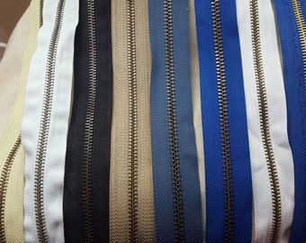 """18"""" - 22"""" Pick one Color Size 5mm Metal fixed Zipper"""