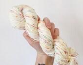Funfetti- Hand dyed 4ply/sock yarn 100g/400m superwash merino, nylon blend